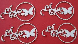 Chipboard Schmetterling im Kreis