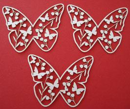 Chipboard Schmetterlinge mit Blumen