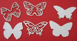 Chipboard Schmetterlinge verschiedene