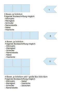 """Erinnerungsschatulle """"Mamas Schätze"""" Variante Nr. 3 Thema Mädchen & Junge"""