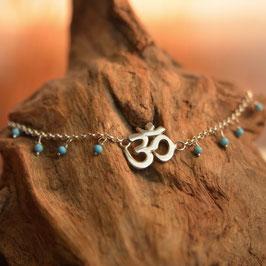 Bracelet AUM Howlite Bleue Turquoise