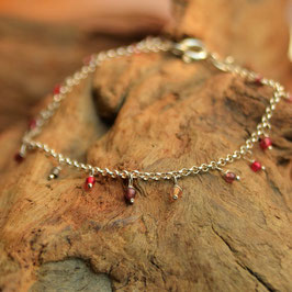 "Bracelet  "" Samadi"" Agate Rouge"