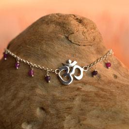 Bracelet AUM Agate Violette