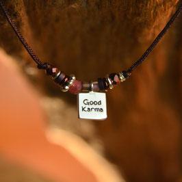 "Bracelet ""Good Karma"" Marron"