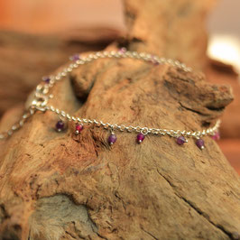 "Bracelet  ""Samadi"" Agate Violette"