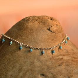 "Bracelet  ""Samadi"" Howlite Bleue Turquoise"