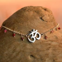 Bracelet AUM Agate Rouge