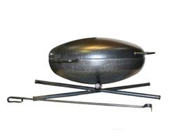 7mm Stahl Feuerschale mit Deckel und Schürhaken
