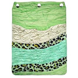 """Taschendeckel Modell """"grüner Leopard"""""""