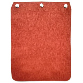"Taschendeckel aus Leder Modell ""Purismus"" Terracotta Orange"