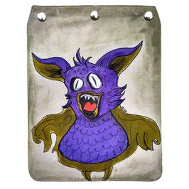 """Taschendeckel handbemalt Modell """"Monster"""""""