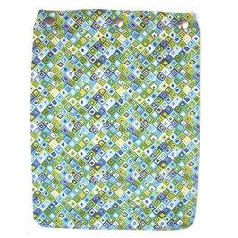 """Taschendeckel Modell """"Rauten"""" grün  blau"""