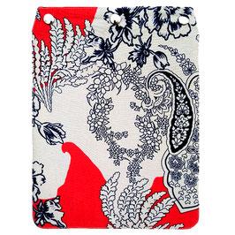 """Taschendeckel Modell """"Blumenranken"""" rot blau creme Variante 1"""