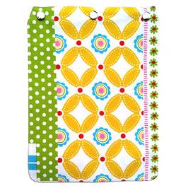 """Taschendeckel Modell """"Blumenmuster"""" weiß gelb grün"""