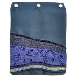 """Taschendeckel Modell """"Blauer Sari"""" Perlen"""