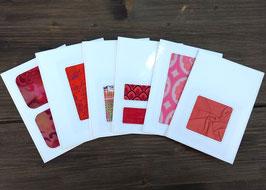 Grußkarten Set Nr. 28 Rottöne