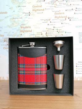 """Flachmann """"Schottland"""" mit zwei Bechern und Trichter"""