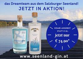 AKTION! Kombipaket Dick & Stein 0,5l und Tief-Blau - der Seenland Gin 0,5l