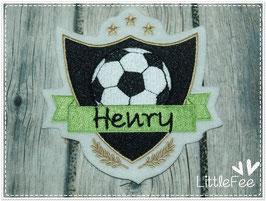 Applikation Fußball Wappen mit Namen