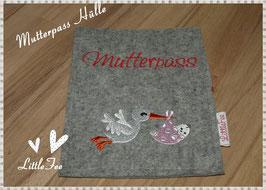 """Mutterpass Hülle """" Storch mit Baby"""""""
