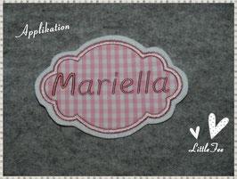"""Button""""Mariella"""" Wunschname"""