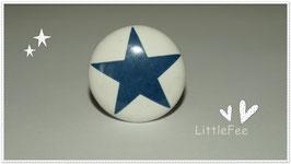 Möbelgriff Stern blau