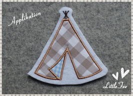 Applikation Indianer Zelt - Tipi -