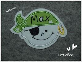 Applikation Pirat Max mit Wunschnamen