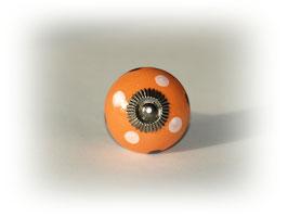 Möbelgriff orange mit Punkten
