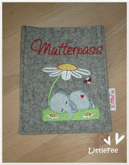 Mutterpass Hülle Elefant