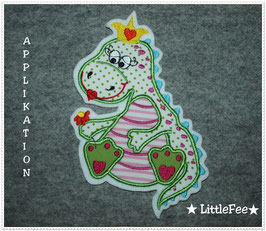 Applikation  Drache Prinzessin
