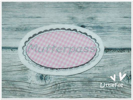 Applikation Mutterpass Button Oval