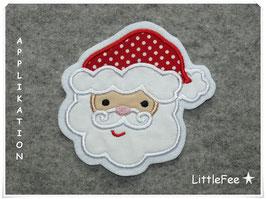 Applikation Weihnachtsmann Gesicht