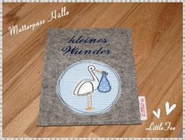 """Mutterpass Hülle """"kleines Wunder"""""""