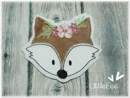 Applikation Fuchs Boho Gesicht