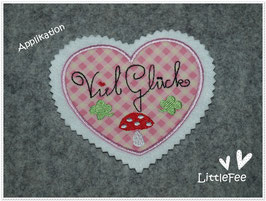 Applikation Herz ♥ Viel Glück ♥