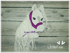 Applikation Pferd Pony Glitzer