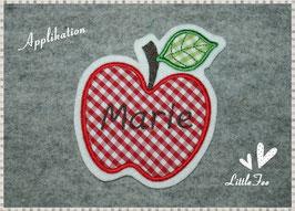 Applikation Apfel mit Wunschnamen