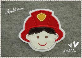 Applikation Feuerwehrmann Gesicht