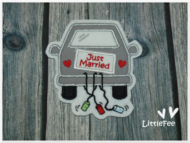 Applikation Just married Hochzeitsauto