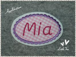 """Applikation """"Mia"""" mit  Wunschname"""