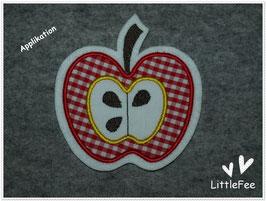 Applikation Apfel mit Gehäuse
