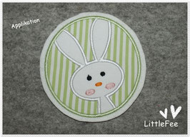 Applikation Button Hase