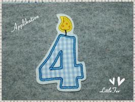 Applikation Geburtstags Zahlen kariert