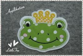 Applikation Prinz Frosch Charlie mit Krone