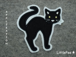 Applikation schwarze Katze
