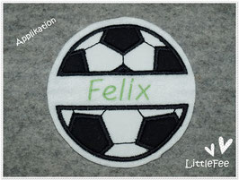 Applikation Fußball mit Namen