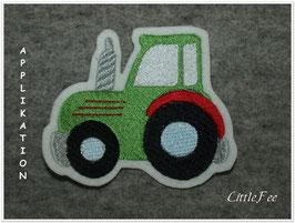 Applikation Traktor '2 Voll gestickt