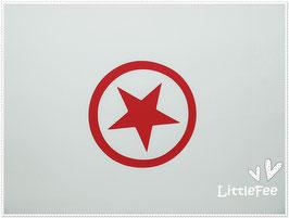 Bügelbild/ Flexbügelbild ♥ Button mit Stern ♥