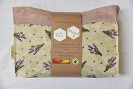 Bee Frisch Bienenwachs-Brottasche mit Lavendelmuster
